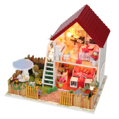 diy hut large villa building model assembled Xingmeng garden birthday gift ideas Valentine's Day New Year's novel