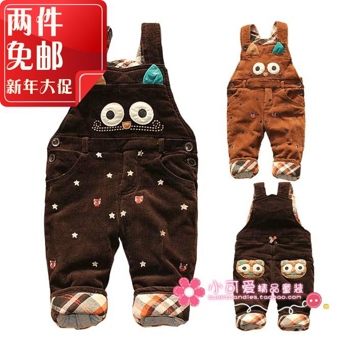 детские штаны Девочек мальчиков-новорожденный утолщенные детей зимние брюки вельветовые брюки комбинезон Корейский внешней торговли детской одежды