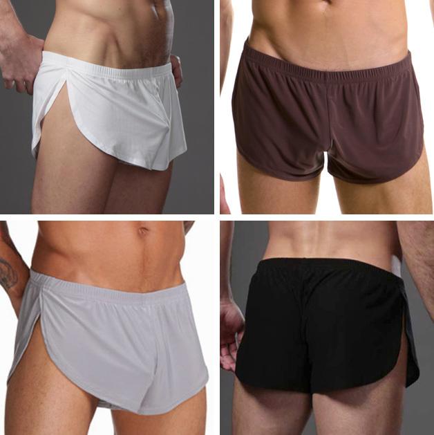 Пижамные штаны Other brands of underwear 88 Для молодых мужчин Лайкра Полиэстер Однотонный цвет Простой (повседневный) стиль Лето