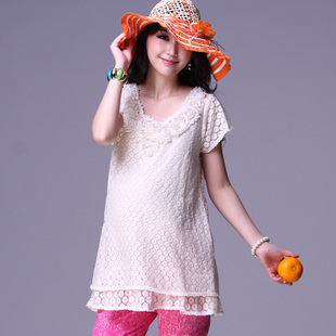 Obuyano2012 Korean summer maternity dresses new fashion coat loose women t-shirt short sleeve code 256
