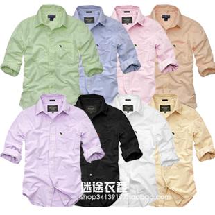 Рубашка мужская Copas LOGO Квадратный воротник Длинные рукава ( рукава > 57см )