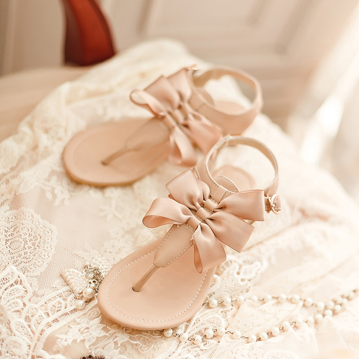 Cny 99 0000 2018 Summer New Sandals Sweet Bow Cute Korean Girls With Flat Shoes Women