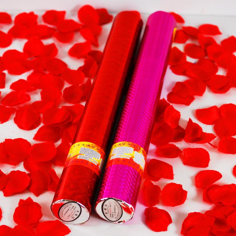 【我结婚】100%纯玫瑰花瓣礼花 40cm结婚礼花筒 婚庆礼宾花二色选