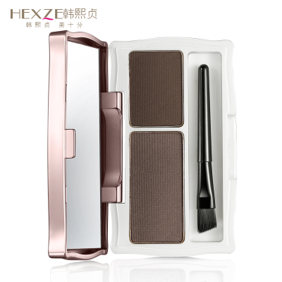 Genuine makeup Korea HEXZE / Han Xizhen charm double effect eyebrow lasting waterproof easy to color naturally bushy