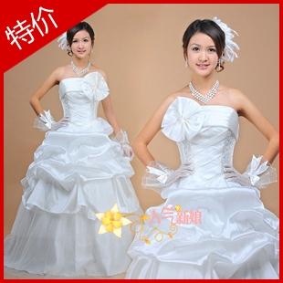 新款特惠简约别致的时尚花朵婚纱苏州新娘婚纱实物婚纱礼服A42