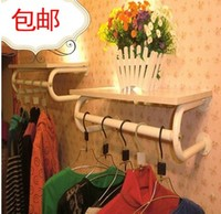 加厚铁艺服装架服装展示架上墙壁挂服装店衣架展示架衣服货架侧挂