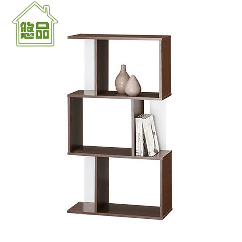 新视觉三层书架 特价书柜组合 小型简易隔断 创意置物架小书架