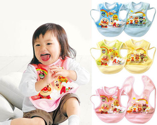 Rice with baby-friendly huts recommended cartoon water proof bib dress sleeveless anti-clothing bib WS033