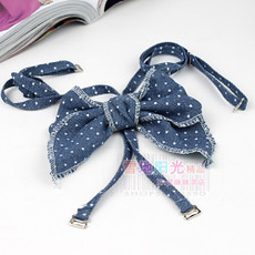 Cruce arco japonés coreano caliente / azul denim Shuiyu correa de hombro / espalda / ropa interior de la correa / sujetador con