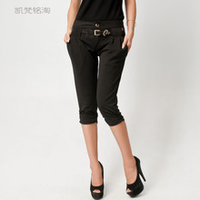 2013 genuine new summer women fashion OL fashion harem pant / with belt Hot 8016