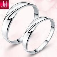 情人节礼物送女友情侣戒指女925纯银对戒男士韩版戒子可刻字拍下改价49