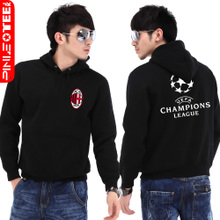 Pinot AC Milan Serie A soccer Champions hooded pullover sweater coat Korean men and women spring loaded big yards