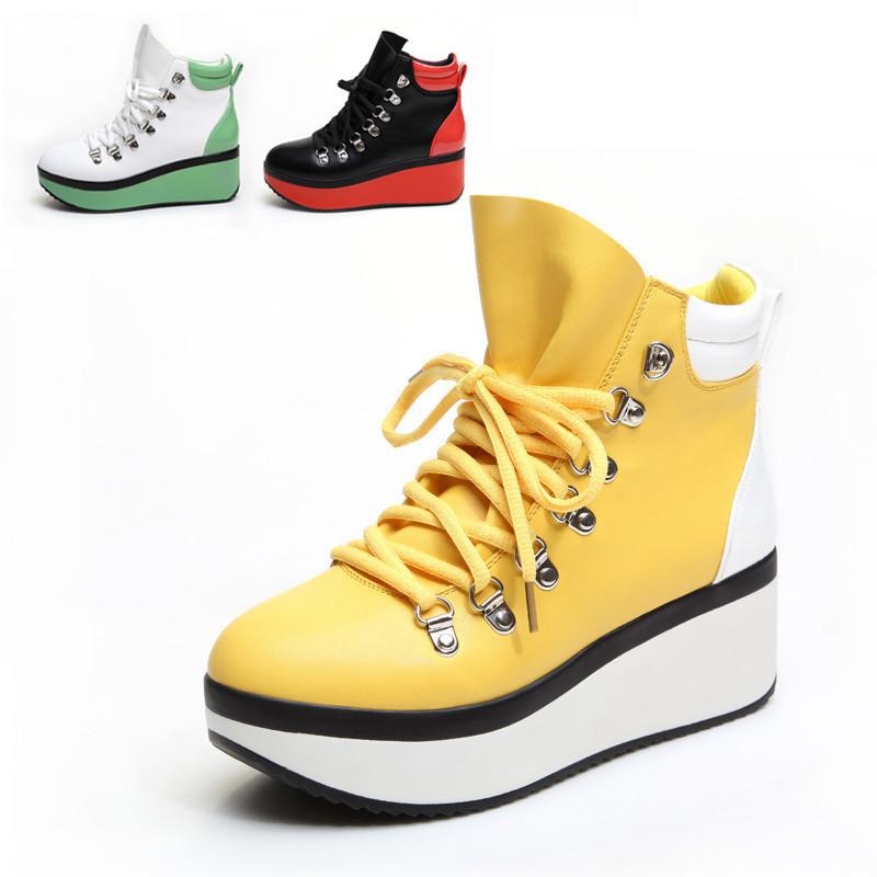 Круглый носок Плоская подошва Шнурок В с (3 -5см ) Клееная обувь Шнуровка Однотонный цвет