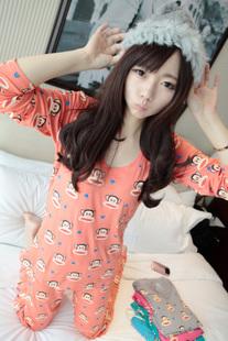 Костюм Дуг 2012 Осень новый непобедимой удобные пижамы домашняя одежда мультфильм спец Ah Ah Ah   для девушки