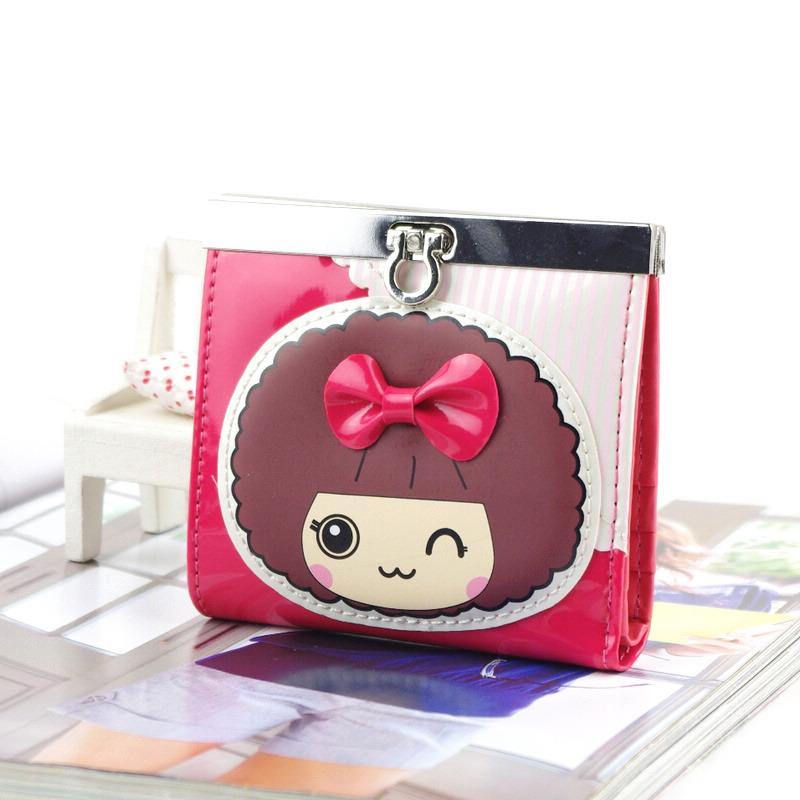 Бумажник Короткие бумажник Девушки Искусственная кожа