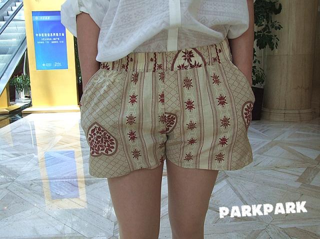Женские брюки Parkpark KZ/0002 2012 Шорты, мини-шорты Другая форма брюк Оригинальный должны быть удалены