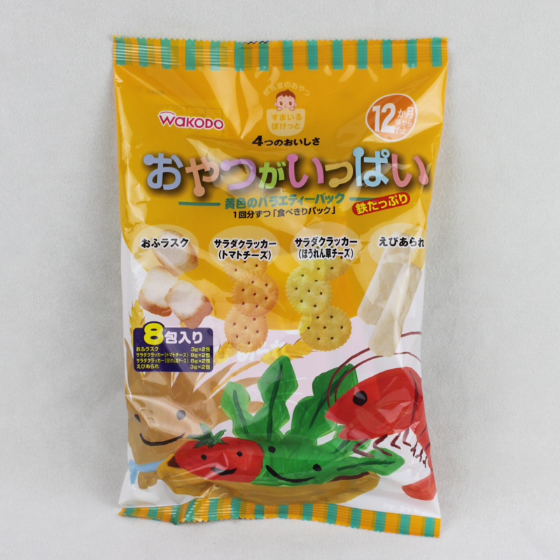 任选6包邮 和光堂 宝宝脆香饼干 4口味混合包 12个月以上 TP3
