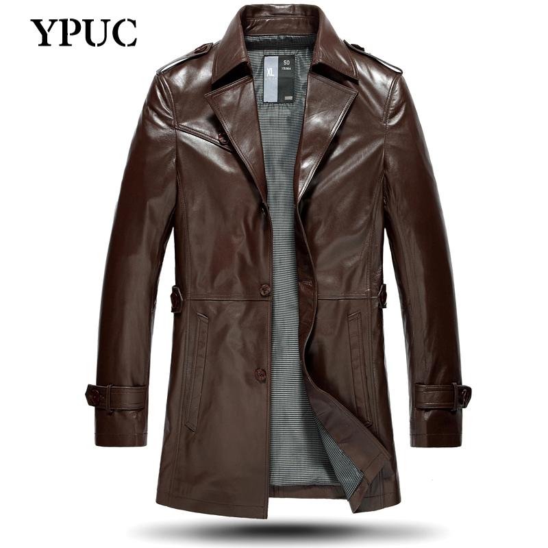 ypuc真皮皮衣男中長款修身男士山羊皮外套皮風衣男海寧皮衣男獵裝圖片