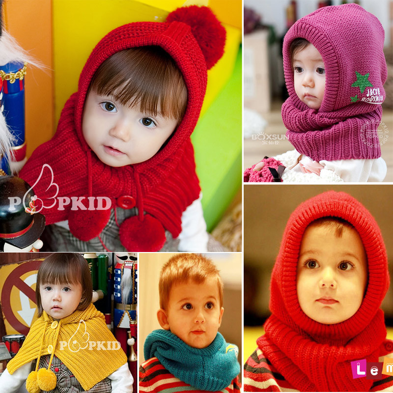 winter scarf Cap Hat ear protectors for children