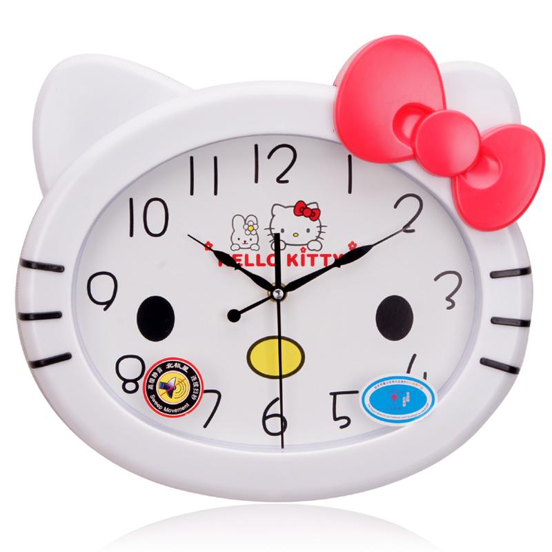 北极星14英寸静音挂钟时尚创意卡通客厅钟表儿童卧室田园石英钟