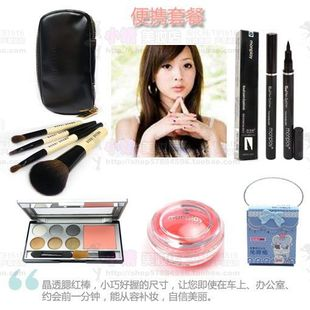 Beautiful said  recommended packages matching makeup eyeliner, eye shadow and lip frozen remove make cotton wearing little makeup brush