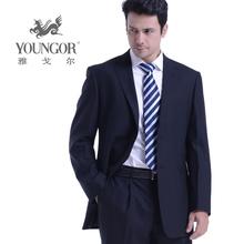雅戈尔yabo2018下载西服套装 专柜正品黑色羊毛抗皱商务休闲西装图片