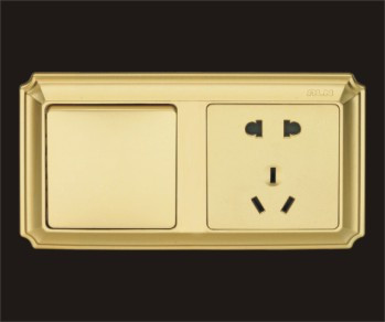 Розетка с выключателем Сокет аутентичные пяти отверстие переключатель биллинг управления 12 процедуру отель тумбочка