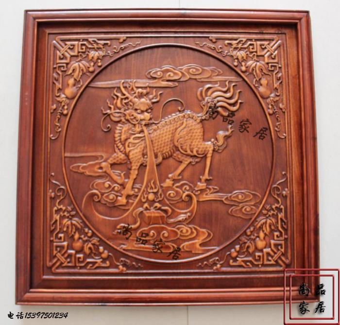 东阳吐玉书浮雕麒麟特色木雕没有纯实木中式轴打印机号图纸雕刻打印图片