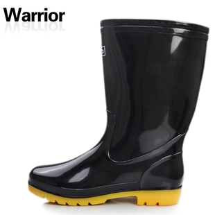 Genuine rain boots back men and beef tendon overshoes transplanting shoes in  rain barrel/high tube 807
