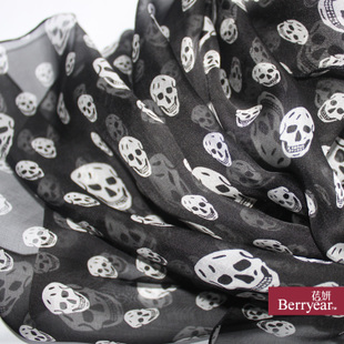 Berryear~ trends and explosive 100% silk skull scarf/silk of silkworm silk scarves silk scarves/shawls