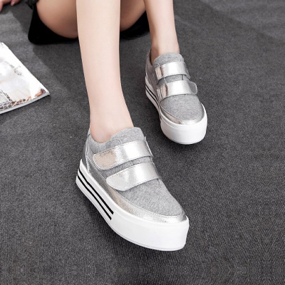 2014 new tide no increase in the loose laces to help low canvas shoes high shoes, heavy-bottomed platform shoes shoes shoes fall