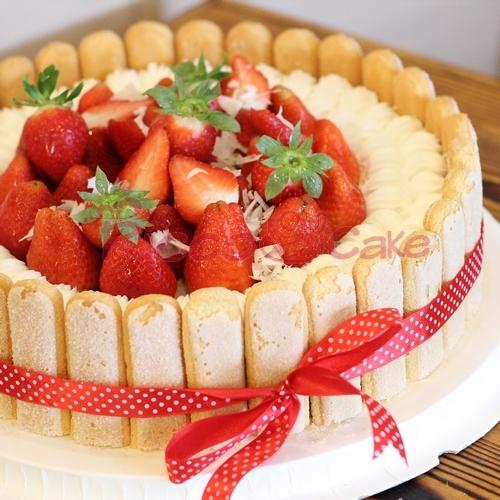 幸福木桶/裱花奶油草莓欧式水果生日蛋糕草莓过祝寿上海速递同城图片