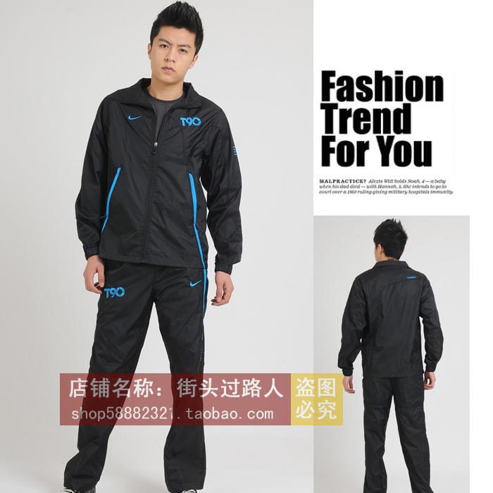 Спортивный костюм NK AT190 Мужская Длинные рукава (рукава ≧ 58см) Воротник-стойка Брюки ( длинные ) Спорт и отдых Дизайн