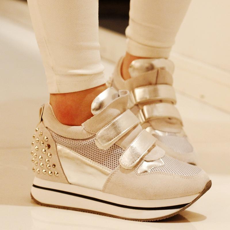 туфли Популярные кошки Саншайн сестры нубука кожаные ремни заклепки высокие платформы обувь для отдыха 5518