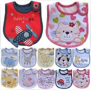 Super cute three-layer waterproof bib baby saliva towel baby bib newborn
