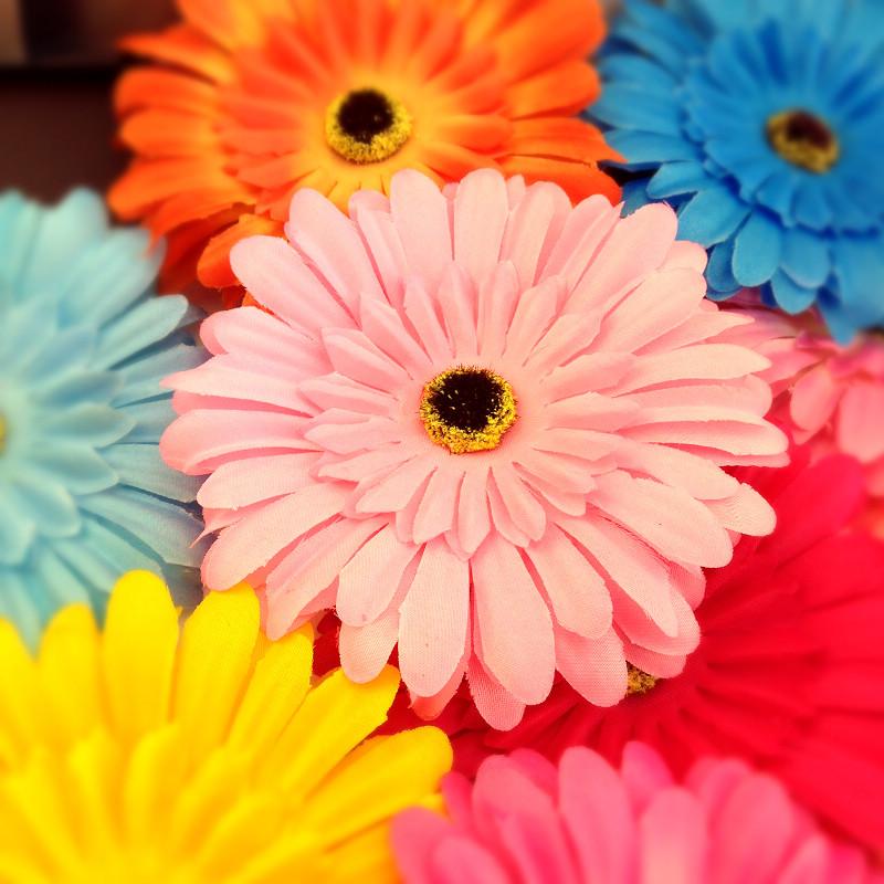 波西米亚非洲菊花朵头饰海边度假沙滩必备配饰品边夹发夹仿真头花