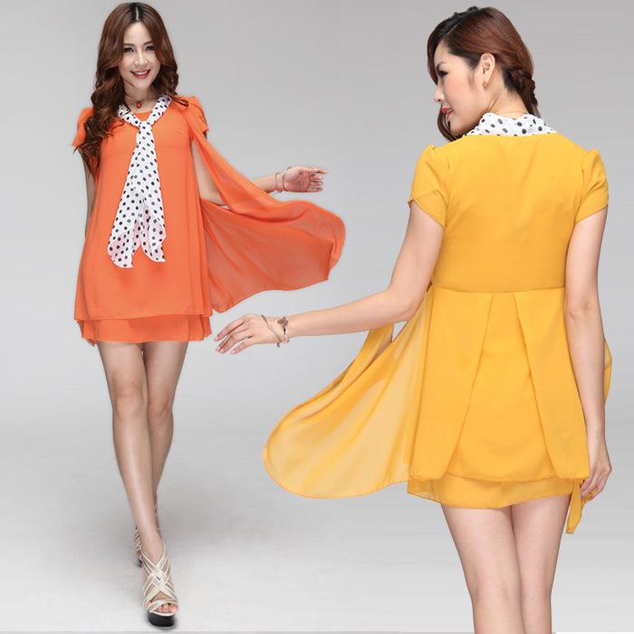 周末疯狂购 热销 夏装新款欧美风时尚修身裸色雪纺连衣裙OP577