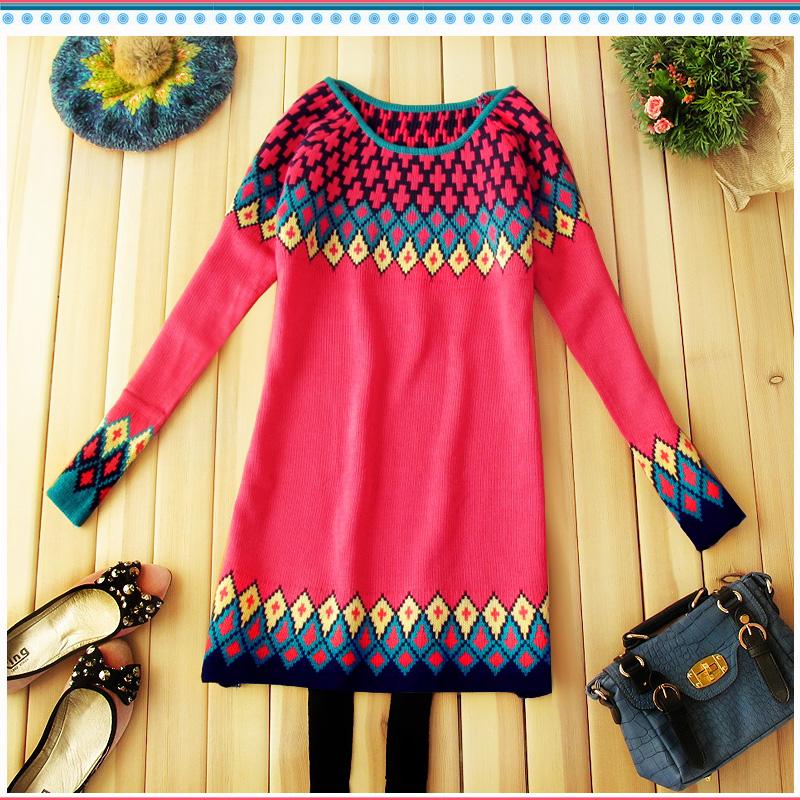 Свитер женский More brands овчина осень 2012 длинный рукав классический рукав закругленный вырез