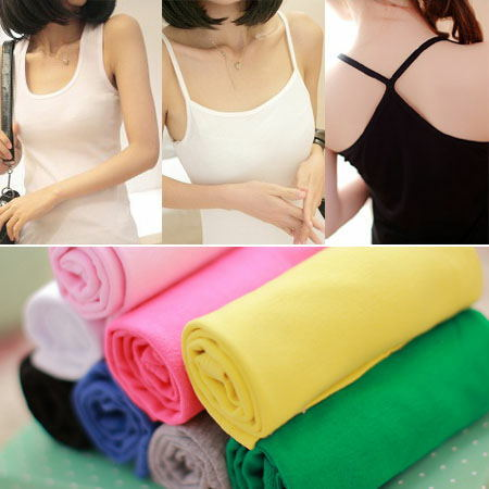 Summer 2014 new women's clothing I vest female cotton base small condole belt unlined upper garment Small vest
