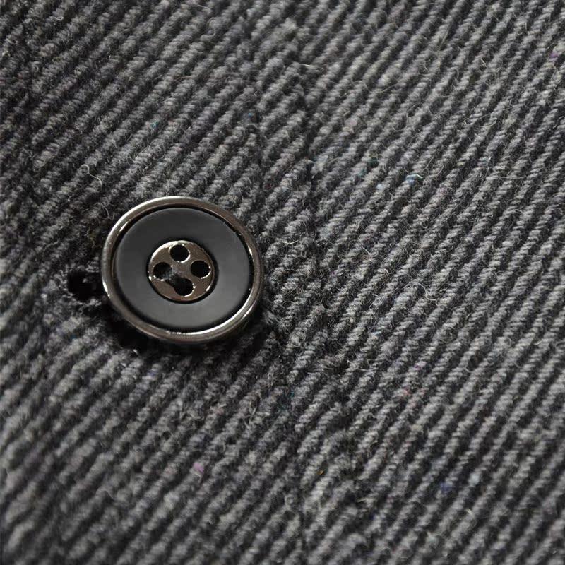 Пальто мужское Jianuo De Шерстяная ткань для пальто Без воротника со стойкой