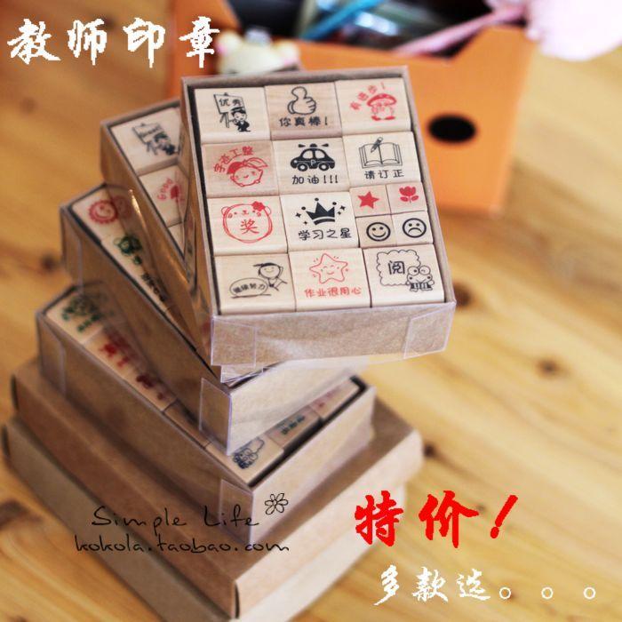 Штамп, Печать Дешевые учитель учителей подарки комментарии поощрение награду детей печать на английском и китайском