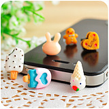 Silent love South Korean the lovely realistic cellphone dust plug the dessert snack iphone4 headsets holes dustproof plug