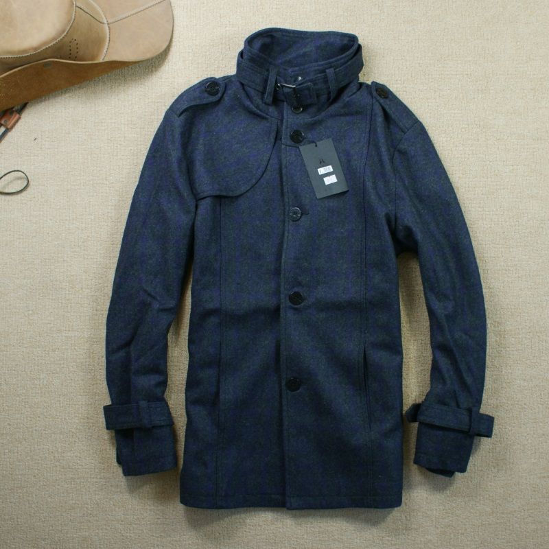 Пальто мужское Nizi coat 2012 Без воротника со стойкой