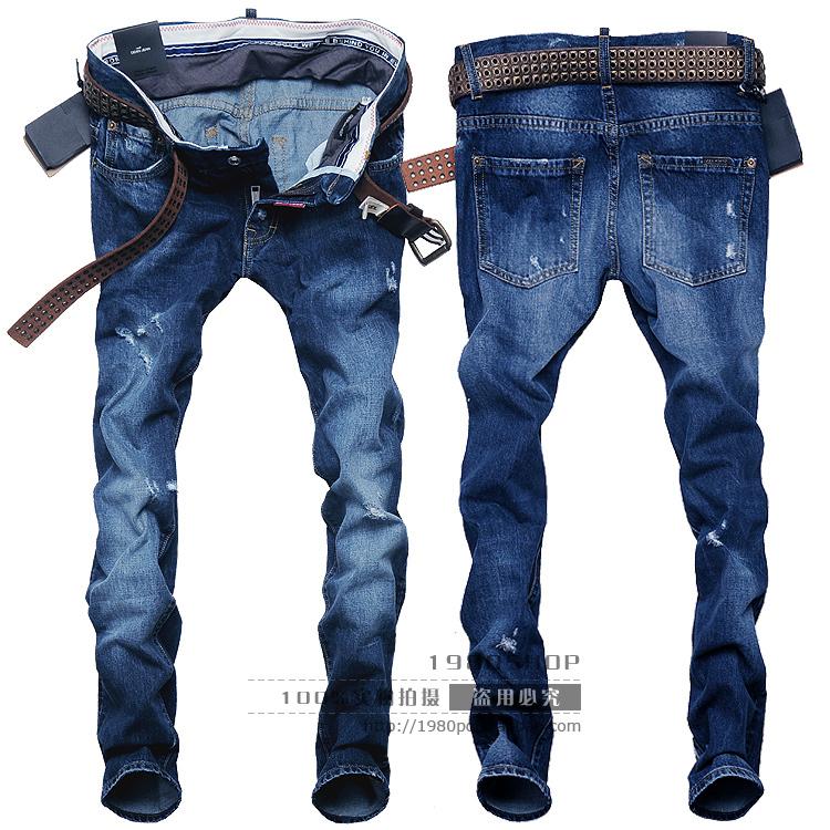 Джинсы мужские Others v7098 Прямые брюки Классическая джинсовая ткань Модная одежда для отдыха