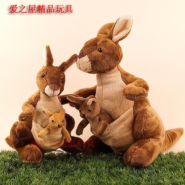 NICI正版 袋鼠毛绒玩具公仔 玩偶 布娃娃 亲子互动款首选 超可爱