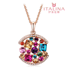 Counters authentic Italina ornaments Oriental garden female crystal necklace