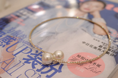 2014 summer new high-end diamond pearl necklace Dress artifact recommend Hong Kong pretty girl summer models