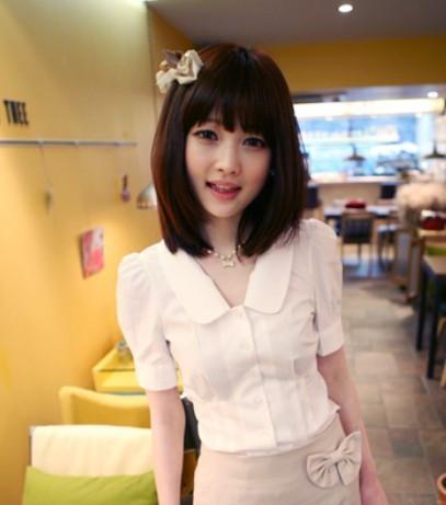 женская рубашка OTHER yy3411 2012 Повседневный Короткий рукав