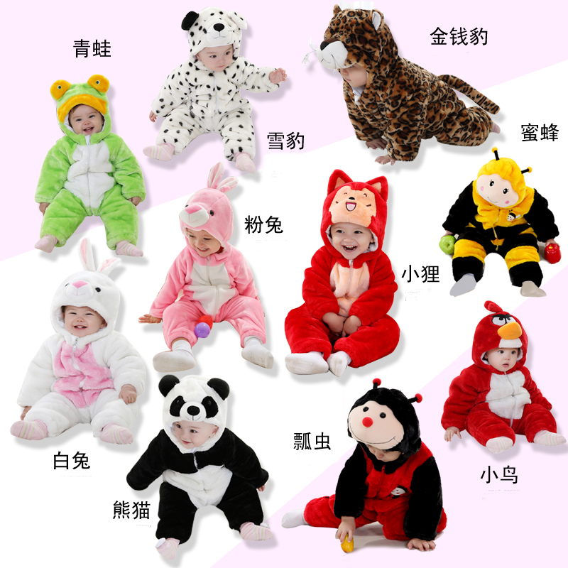 Baby Jumpsuit For winter and Autumn Kids clothing  1-3 years Panda Fox Rabbit Taobao Agents