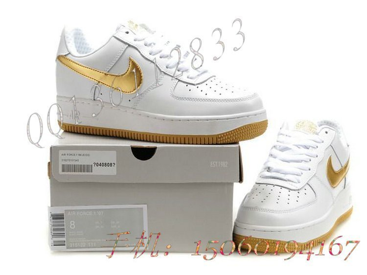 кроссовки Nike 48576248 AIR FORCE 08 Кожа быка Зима 2012 Унисекс Эбонит